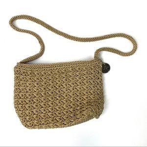 The Sak Beige Crocheted Handbag.